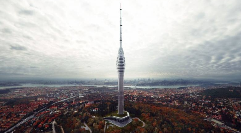 The highest Chamlija Tower in Turkey